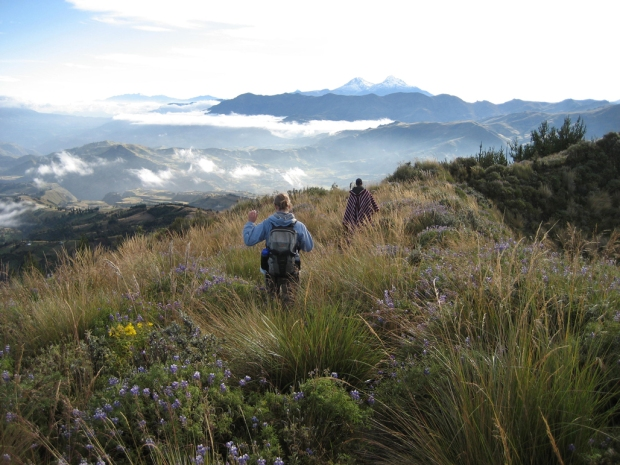 Laguna Quilotoa - hike back to Chugchilan